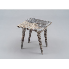 Wooden Carved Stool 1661B1