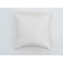 'Applique' White Cushion Cover