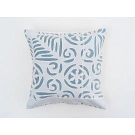 'Applique' Blue Cushion Cover