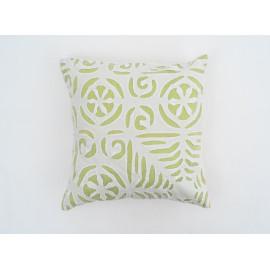 'Applique' Green Cushion Cover