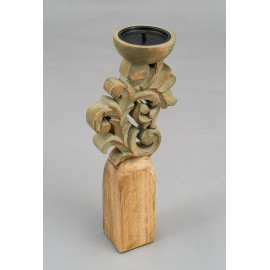 Wooden Carved Candle Stand...