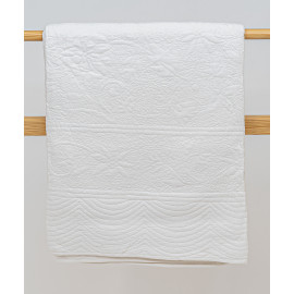 Machine Quilted White Bedcover