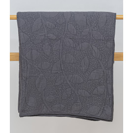 Machine Quilted Grey Bedcover