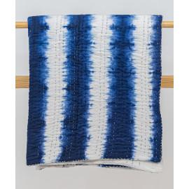 Blue-White Tie & Dye Kantha...