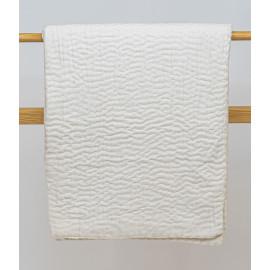 White Kantha Quilt