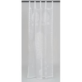 Applique White Curtain