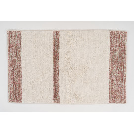 Brown Stripes Bath Mat