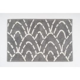 White & Grey Bath Mat