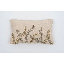 Fern Embroidered Throw...