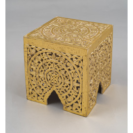 Wooden Carved Stool 1100A