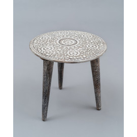 Wooden Carved Stool 1220A